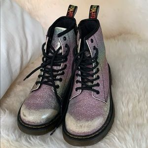 Dr. Martens Pascal Rainbow Glitter boots Size 3
